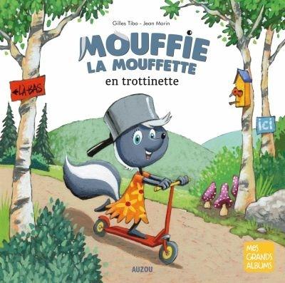 Mouffie la mouffette en trottinette